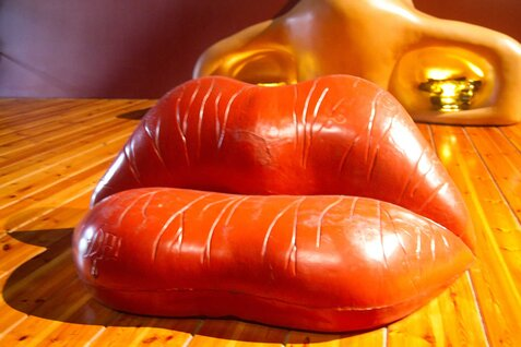 Mae West Lips Sofa by Salvador Dali
